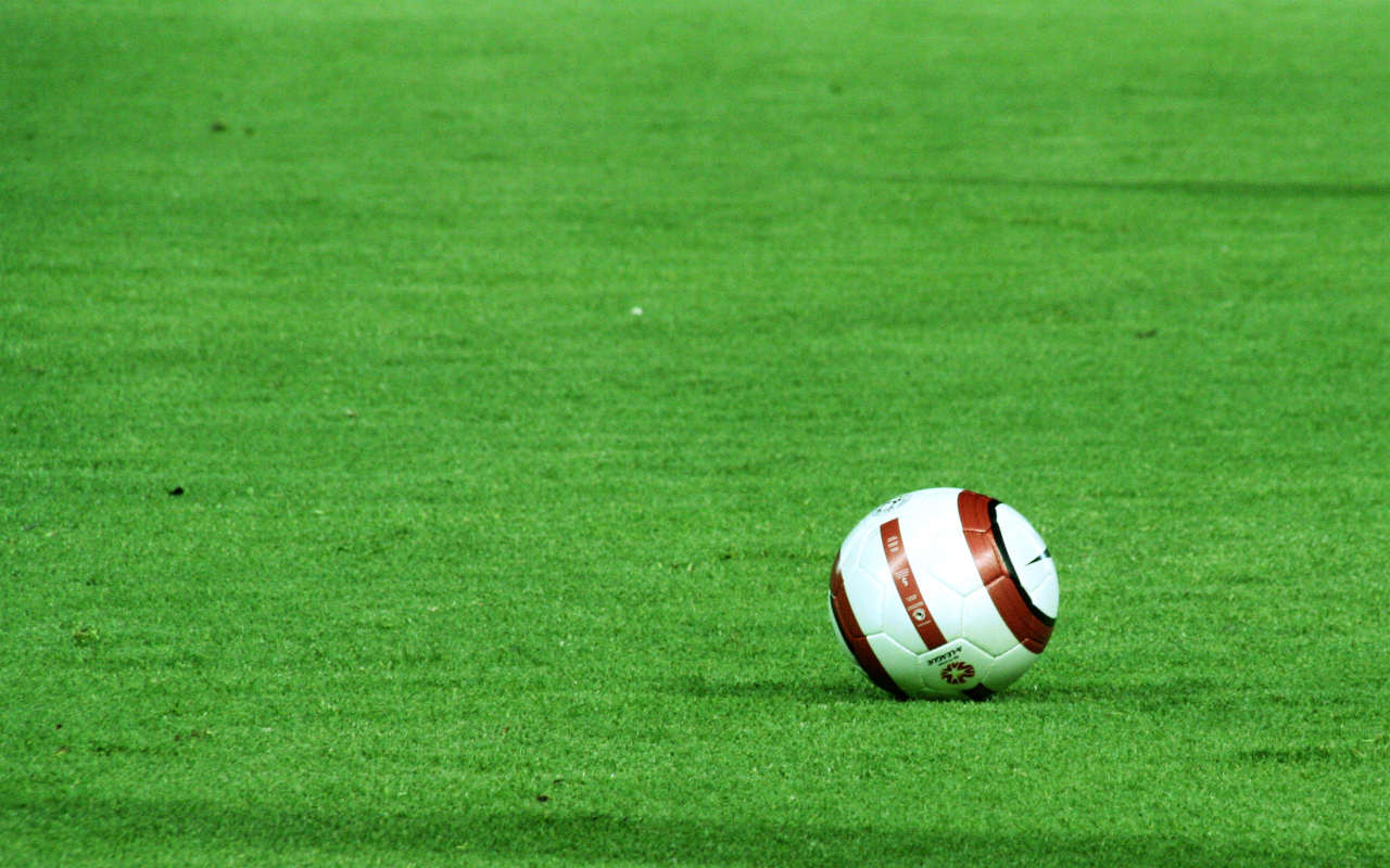 Calcio palle di cuoio pallone campo